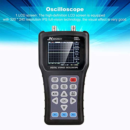 Oscilloscope, JDS2023 Digital Handheld LCD Oscilloscope 1 Channels 20Mhz 200MS/S Digital Storage Signal Generator AC/DC Input Coupling