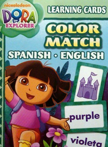 Dora Learning Cards Color Match Spanish English