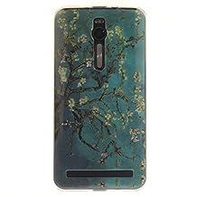 "Asus Zenfone 2 ZE551ML Case, SsHhUu [Peach Blossom] Style Ultra Slim Soft TPU Flexible Durable Gel Silicone Protective Rear Skin Cover for Asus Zenfone 2 ZE551ML (5.5"")"
