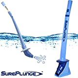SurePlunge automatic toilet plunger. Amazing co2 power. Easy as 1-2-3. Fits all toilets - great for newer low-flow modeIs. Best toilet plunger. Environmentally safe. Decor stand included.