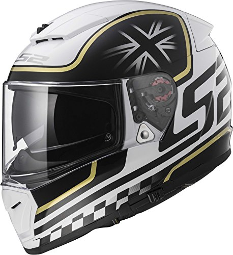 LS2 Helmets Unisex-Adult Full Face Helmet (Gloss White, Large) (Breaker Classic)