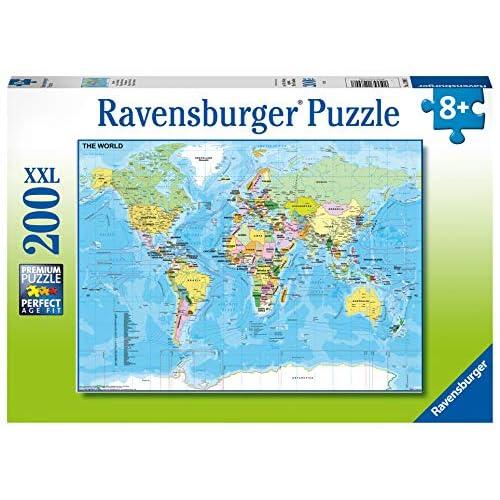 51r1eKSlAHL. SS500 Ravensburger puzzle para niños Un puzzle de 200 piezas de la mapa del mundo Tamaño puzzle 49x36 cm