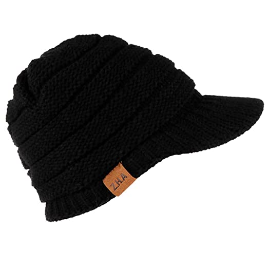 a927d5cb Amazon.com: Byyong Women Men Winter Crochet Hat Knit Hat Warm Baseball Cap:  Clothing
