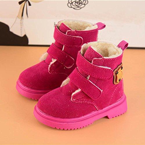 Winter Kleinkind Kinder Jungen Mädchen WinterMartin Sneaker Warme Stiefel Kinder Babyschuhe Rot