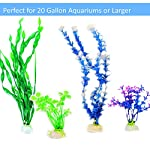 Otterly Pets Plastic Plants for Fish Tank Decorations Large Artificial Aquarium Decor and Accessories - 8-Pack 13