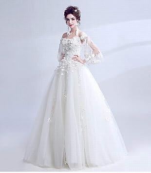 YT-RE Vestido de Novia de la Princesa Vestido de Novia de Organza de la