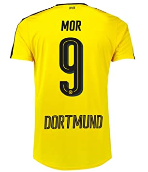 Puma BVB Borussia Dortmund Fußball Trikot Home 2016 2017 Herren Mor 9 gelb  schwarz Größe XL