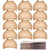 Teenitor 20pcs Stocking Caps for Wigs, Beige Wig