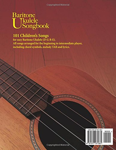 Amazon.com: Baritone Ukulele Songbook: 101 Children\'s Songs ...