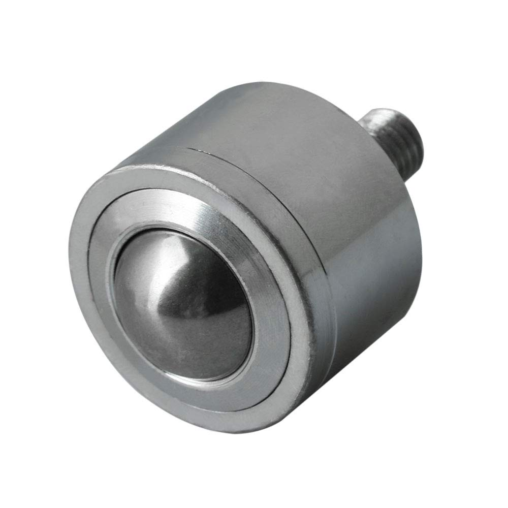 CNBTR 22mm Ball Dia Carbon Steel Transfer Bearing Unit Ball Conveyor Roller Stem Caster M10 Thread Weight 90KG Loading Weight