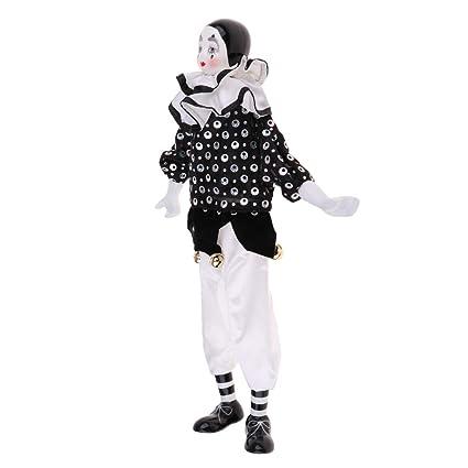 Amazon com: Prettyia Vintage Porcelain Clown Doll Figurine with