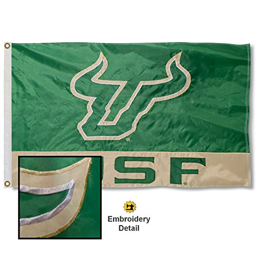 University of South Florida Embroidered and Stitched Nylon Flag