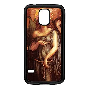 Astarte Syriaca by Dante Gabriel Rossetti Black Silicon Rubber Case for Galaxy S5 by Painting Masterpieces + FREE Crystal Clear Screen Protector
