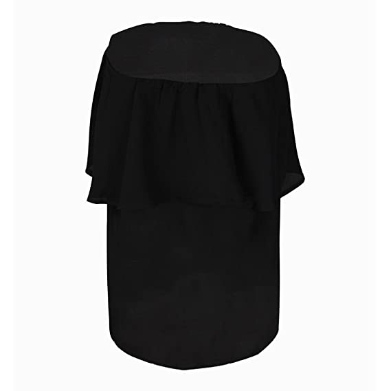 Off Shoulder Blouse for Womens, FORUU Sexy Solid Strapless Chiffon T Shirts Tops at Amazon Womens Clothing store: