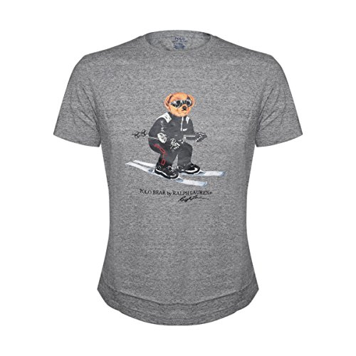 Polo Ralph Lauren Mens Limited Polo Bear T-Shirt (Medium, Grey Heather/Ski)