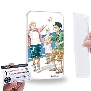 Case88 [Samsung Galaxy J1] Gel TPU Carcasa/Funda & Tarjeta de garantía - Space Brothers Nanba Brothers Mutta Nanba Hibito Nanba 1665