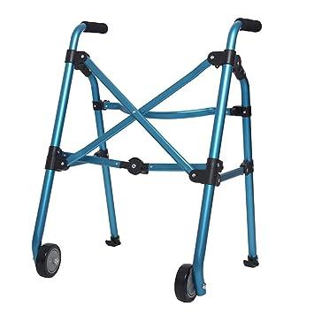 Jmung Andador De Aluminio Muy Ligero Rollator Plegable con Ruedas ...