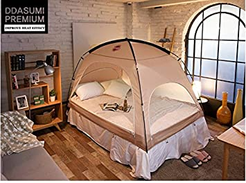 DDASUMI Warm Tent for Double Bed without Floor (Brown) & Amazon.com: DDASUMI Warm Tent for Double Bed without Floor (Brown ...