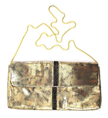 La Sera by Franchi Women's Tia Antique Metallic Clutch Purse, (Tia Clutch)