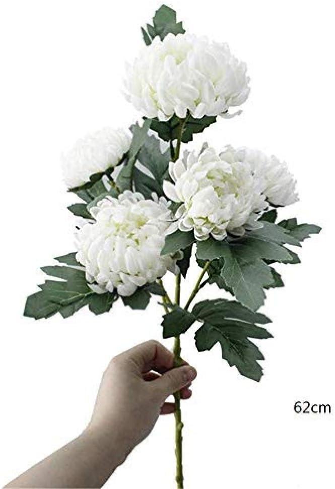 Yueyue947 Artificial Flower Silk Flowers Chrysanthemum Artificial Flowers Marigolds Autumn Wedding Home Decorative Fake Plants Branches 5 Pieces Amazon Co Uk Kitchen Home