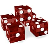 Brybelly Set of 5 Grade AAA 19mm Casino Dice with Razor Edges and Matching Serial Numbers