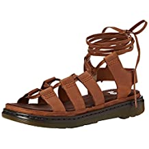 Dr.Martens Womens Kristina Polished Oily Illusion Leather Sandals