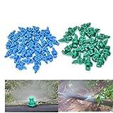 Eshylala 100 Pcs Atomizing Sprinkler Spray 180 Degree Refraction Garden Watering Irrigation Atomizing Sprinkle, Random Color