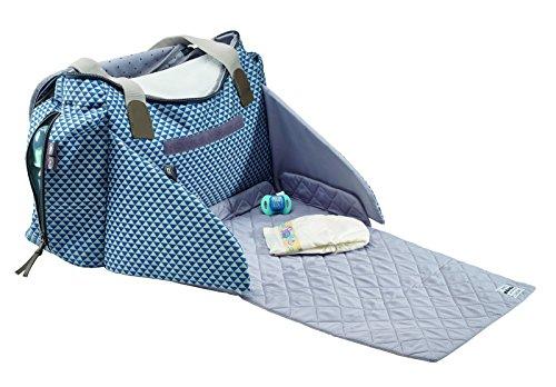 "Beaba Sydney II - Bolsa de viaje ""Play Print"", color azul Azul"