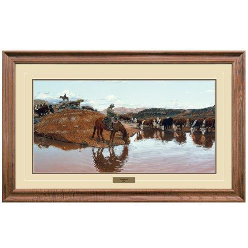 Reflective Art, Tough Bunch, Walnut Framed, 27 by 42-inch