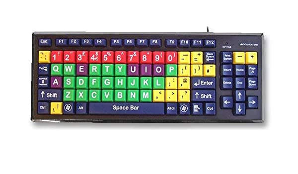 Accuratus kyb-mon2mix-ucuh teclado teclas de Multi Col superior caso [1] (Epítome ProGrade): Amazon.es: Informática