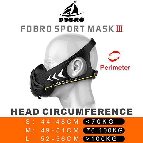 Amazon.com : FDBRO Sports masks style black High Altitude training Conditioning training sport mask 2.0 with phantom mask : Sports & Outdoors