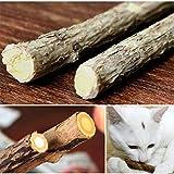 GoEa 5Pcs Cat Cleaning Teeth Pure Natural Catnip Pet Cat Molar Toothpaste Stick