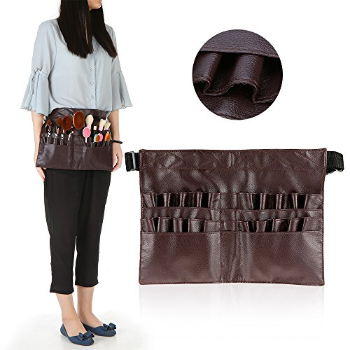 Anself-2-Arrays-Cosmetic-Holder-Organizer-Makeup-Brush-Apron-Bag-with-Artist-Belt-Strap