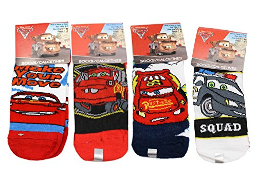 Disney Pixar's Cars Assorted Character/Design Kids Socks (Size 4-6, 3 Pairs)