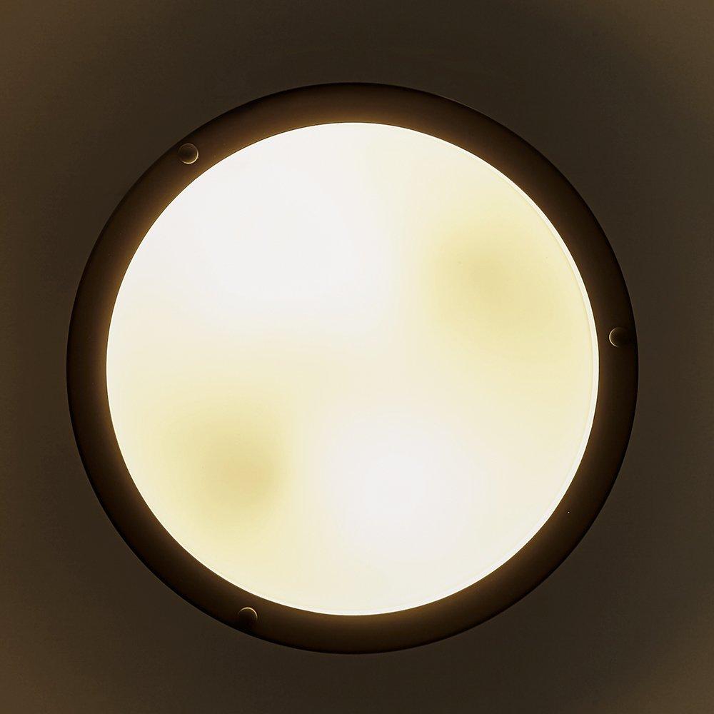 0d5c30ee5f9 SOTTAE 2 Lights Bronze Finish Tempered Acrylic Flush Mount Ceiling Light