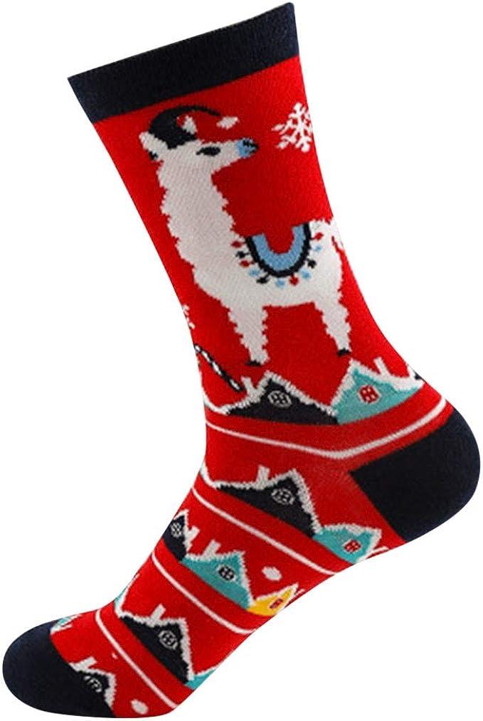YWLINK Bien Parecido Navidad Mujer CáLidos Elk MuñEco De Nieve Calcetines Casuales De AlgodóN Calcetines Stocke Orange, Balck, Blue, Green, Navy, Red Regalo: Amazon.es: Ropa y accesorios