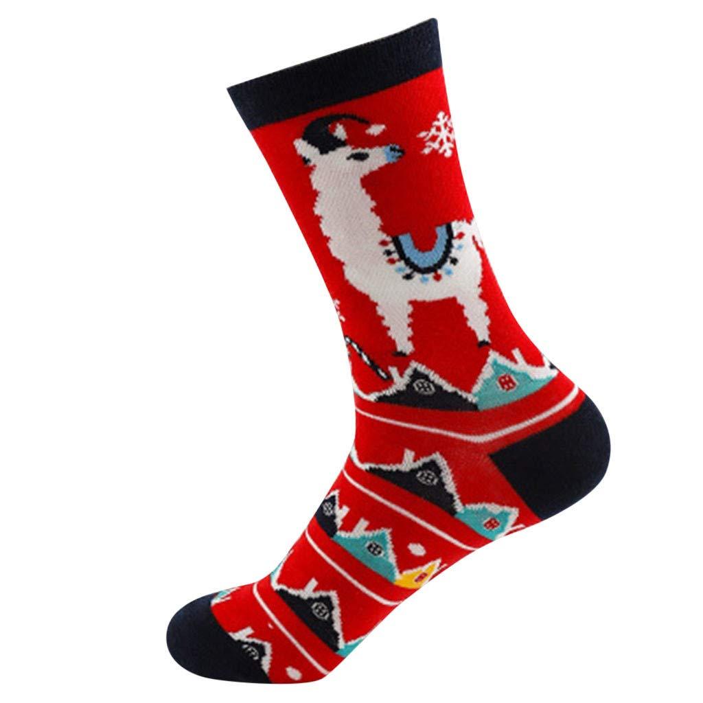 Clearance! Socks For Women Funny,Christmas Ladies Warm Elk Snowman Socks Cotton Socks Stocke,
