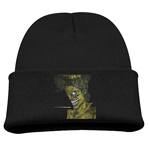 The Cramps Bad Music For Bad People Kids Skullies And Beanies Black (Cramps Patch)
