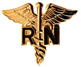 Registered Nurse RN Caduceus Medical pin