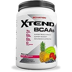 Scivation Xtend BCAA Powder, Fruit Punch, 90 Servings