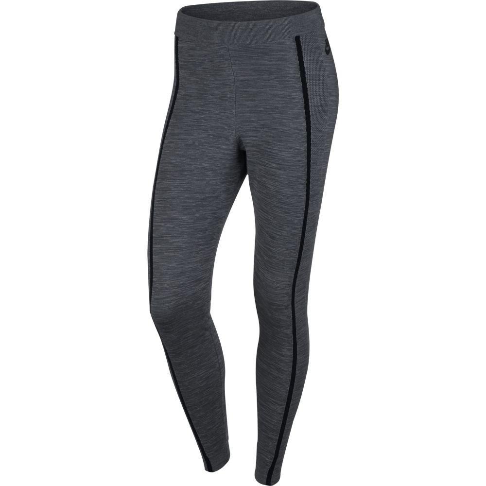Nike Womens Tech Knit Athletic Leggings Dark Grey Heather/Black 809545-065 (Small)