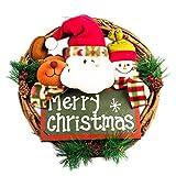 Christmas Garland REYO Party Leaf Door Wall Decoration Window Ornament Garland Wreath (multi, Diameter Size :32324cm)