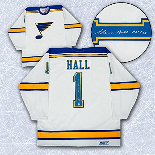Glenn Hall Signed Jersey - . Retro CCM - Autographed NHL Jerseys at  Amazon s Sports Collectibles Store af0104136