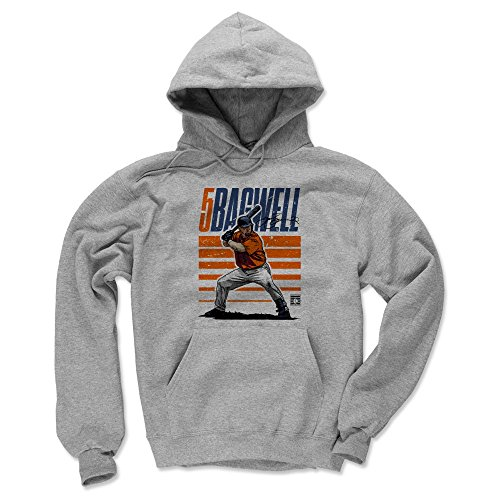 500 LEVEL Jeff Bagwell Houston Astros Hoodie Sweatshirt (Large, Gray) - Jeff Bagwell Starter O ()
