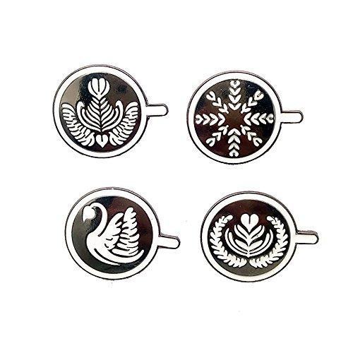 Fashion Cartoon Enamel Brooch Pins Set for Unisex Child Women's Clothing Decorate (Coffee Cups Set) ()