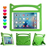 kraken ipad 2 case - iPad Mini 1 2 3 Case, iPad Mini 4 Case, Huaup Kids Proof Shockproof Protective Case Durable Light Weight Stand Case Carrying Handles for iPad Mini 4 3 2 1 (Green)
