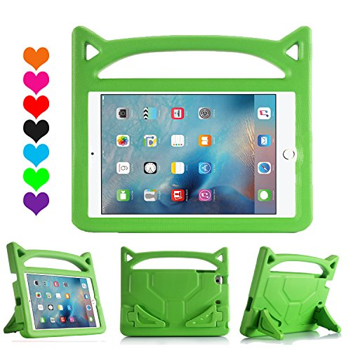 - iPad 9.7 Case 2018/2017, iPad Pro 9.7 Case, iPad Air 2 Case, Huaup Kids Shock Proof Handle Light Weight Super Protective Stand Cover Case for Apple iPad 5 6 th/Air 2 / Pro 9.7 Tablet (Green)