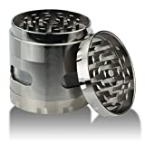 weed grinder with design - DCOU New Design Premium Weed Grinder 2.2 Inches 4 Piece Tobacco Grinder with Pollen Catcher Durable Zinc Alloy Herb Grinder Spice Grinder (Gunmetal)