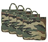 Storite 5 Pack Cotton Bags, Milk Bag, Grocery Bag, Carry Bags, Shopping Bag (Military Soft)