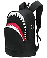 Bhwin 3D Shark Canvas Backpack Book Bag School Backpacks Travel Bags for Teen